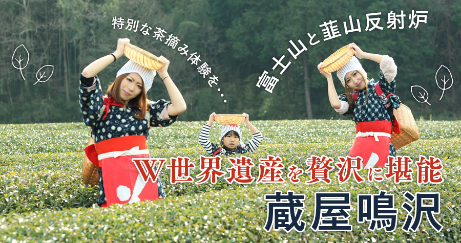 """特別な茶摘み体験を・・・""""富士山""""と""""韮山反射炉""""W世界遺産を贅沢に堪能できる「蔵屋鳴沢」"""