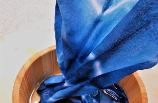 手ぬぐい藍染めコース始めました!