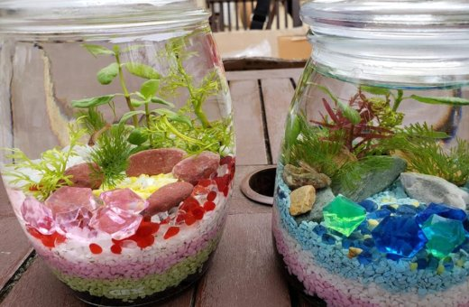 小さな水族館ボトリウム制作体験